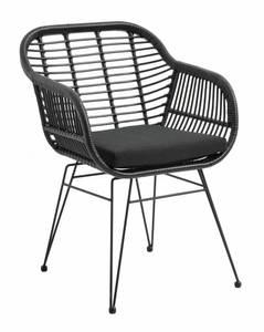 Bilde av Garden chair w/armrest black