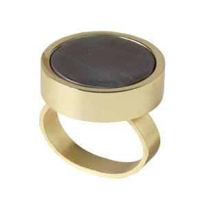 Bilde av Marble Ring - TOFFEE/GOLD